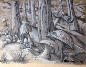 Mushrooms in the Moonlight
